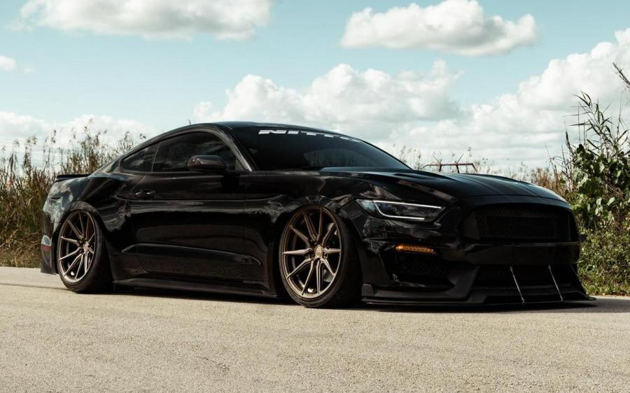 2019 Ford Mustang GT by NITTO on Vossen Wheels (HF-3)