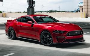 Ford Mustang GT by Vortech Superchargers on Vossen Wheels (HF-1) 2019 года