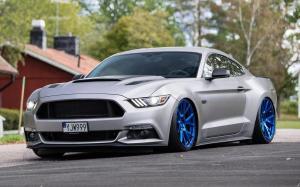 Ford Mustang GT on Vossen Wheels (VPS-306) 2019 года
