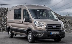 Ford Transit Double-Cab-in-Van EcoBlue Hybrid L2H2 2019 года (WW)