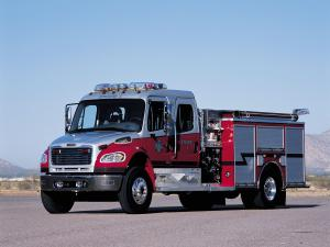Freightliner Business Class M2 106 Crew Cab Firetruck by American LaFrance 2002 года