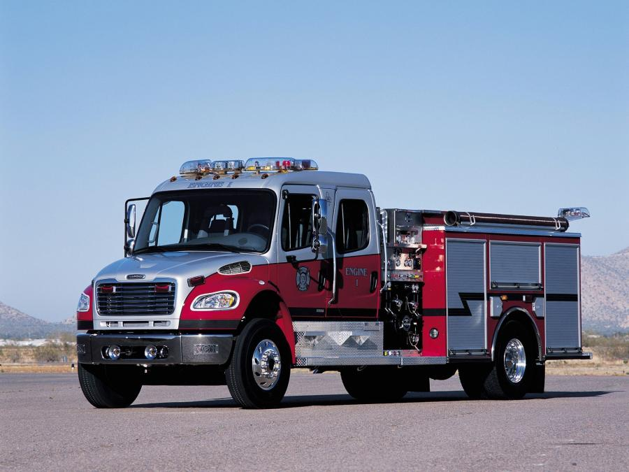 Freightliner Business Class M2 106 Crew Cab Firetruck by American LaFrance '2002