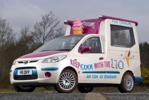 Hyundai i10 Ice Cream Van Show Car by Andy Saunders 2008 года