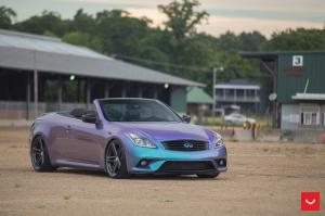Infiniti G37 Convertible on Vossen Wheels (VFS5)