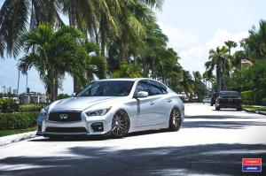 Infiniti Q50 X Work on Vossen Wheels (VWS-2) 2017 года
