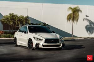 2019 Infiniti Q50S 3.0t Pure White on Vossen Wheels (HF-3)