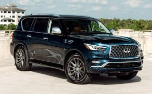 Infiniti QX80 5.6 Hermosa Blue on Vossen Wheels (HF6-1) 2019 года
