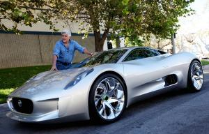 Jaguar C-X75 Concept and Jay Leno 2010 года