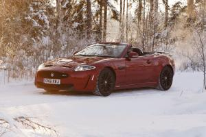 2012 Jaguar XKR-S Convertible on Ice Drives in Finland