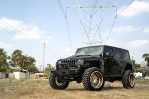 2017 Jeep Wrangler Ultimate Black on Forgiato Wheels (Ventoso-T)