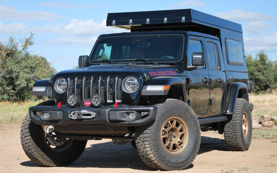 2019 Jeep Gladiator Rubicon AT Summit Habitat Camper by Adventure Trailers
