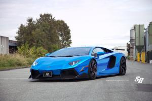 2014 Lamborghini Aventador LP700-4 Blue by SR Auto Group on PUR Wheels