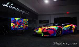 Lamborghini Aventador LP720-4 Roadster Art Car by Duaiv 2014 года