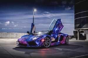 2014 Lamborghini Aventador Roadster Galaxy Wrap by DXSC