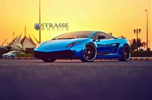 Lamborghini Gallardo LP540 Superleggerra by MAS Tuning and Strasse Wheels 2014 года
