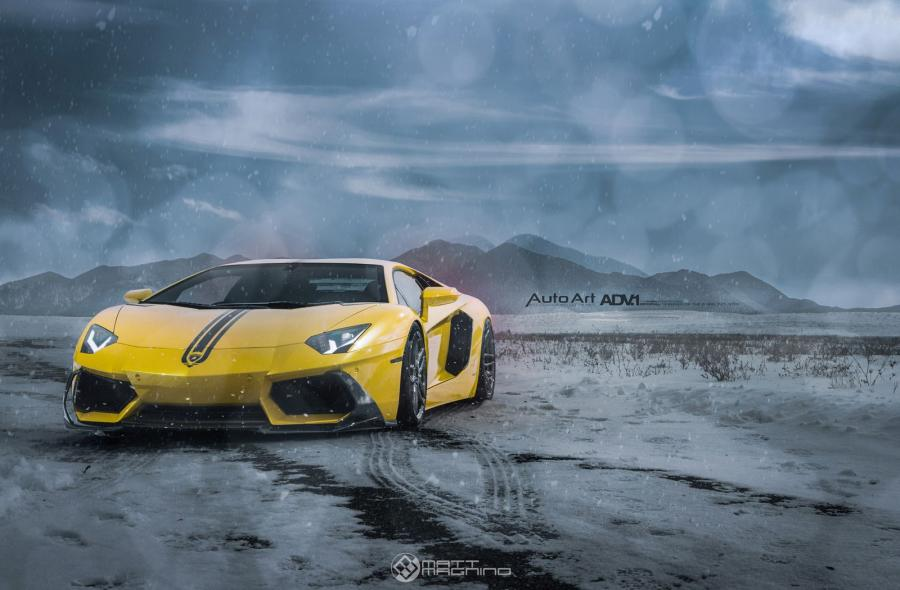 Lamborghini Aventador LP700-4 on ADV.1 Wheels (ADV005MV2SL) '2015