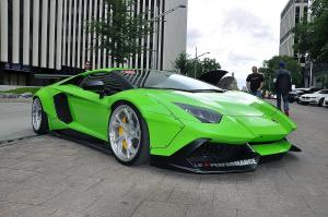 Lamborghini Aventador LP700-4 by Liberty Walk on PUR Wheels 2016 года