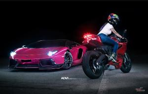 Lamborghini Aventador LP750-4 Superveloce Purple by Auto Talent on ADV.1 Wheels (ADVNL2 M.V1 SL) 2016 года