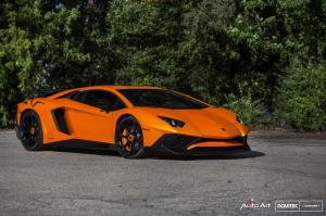 2016 Lamborghini Aventador LP750-4 Superveloce in Orange by Novitec Rosso on Vossen Wheels (NV1)