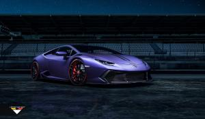 Lamborghini Huracan LP610-4 Novara in Purple by Vorsteiner 2016 года