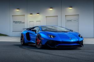 2017 Lamborghini Aventador  LP750-4 Superveloce Blue by Novitec Rosso on Vossen Wheels (NV1)