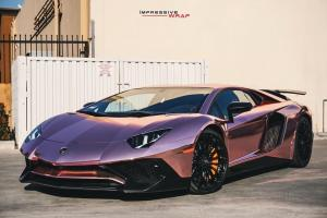 Lamborghini Aventador LP-750-4 Superveloce in Rose Gold Chrome by Impressive Wrap 2017 года