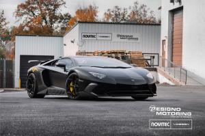 Lamborghini Aventador LP750-4 Superveloce by Novitec Rosso and Designo Motoring on Vossen Wheels (NV 2017 года
