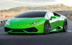 Lamborghini Huracan LP610-4 Verde Mantis on ADV.1 Wheels (ADV7 TRACK SPEC CS) 2017 года