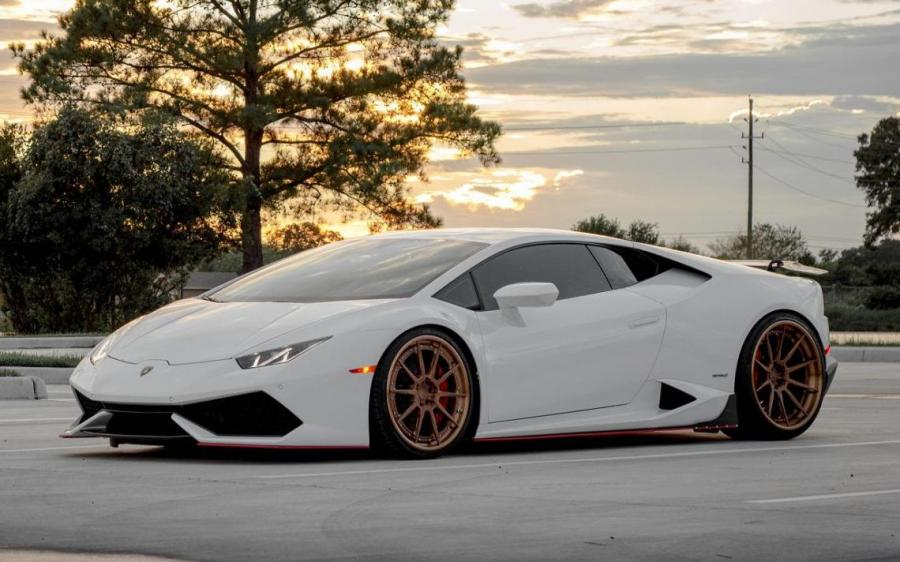 Lamborghini Huracan LP610-4 Bianco Avus by EVS Motors on ADV.1 Wheels (ADV5.0 M.V2 CS) '2018