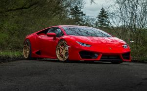 2018 Lamborghini Huracan LP610-4 Rosso Mars on ADV.1 Wheels (ADV05C M.V2 CS)