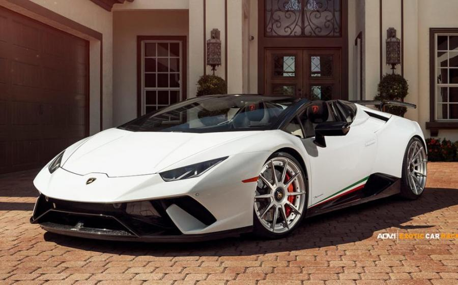 Lamborghini Huracan Performante Spyder by Exotic Car Hacks on ADW.1 Wheels (ADV10 M.V2 CS) '2018
