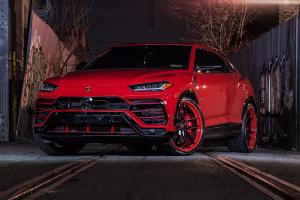 2018 Lamborghini Urus Rosso Anteros on Forgiato Wheels (TEC 3.9)