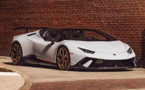 Lamborghini Huracan Perfomante Spyder by Novitec Rosso on Vossen Wheels (NV1) 2019 года