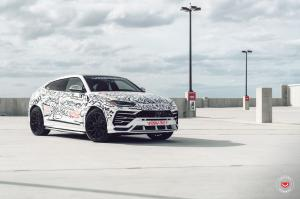 Lamborghini Urus Art Car on Vossen Wheels (S17-01) 2019 года