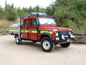 1990 Land Rover Defender 130 Double Cab Fire Service
