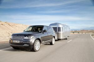 2013 Land Rover Range Rover Towing Airstream