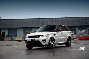Land Rover Range Rover Sport in White by SR Auto Group on PUR Wheels 2015 года