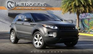 Land Rover Range Rover Evoque Deep Matte Black by MetroWrapz 2017 года