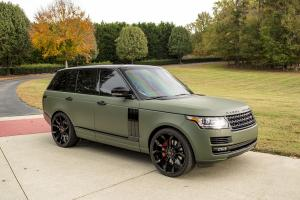 Land Rover Range Rover HSE Matte Green on Forgiato Wheels (F2.16) 2017 года