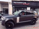 Land Rover Range Rover Vogue Matte Black by Impressive Wrap 2016 года
