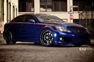 Lexus IS F-Sport by D2Forged Wheels 2014 года