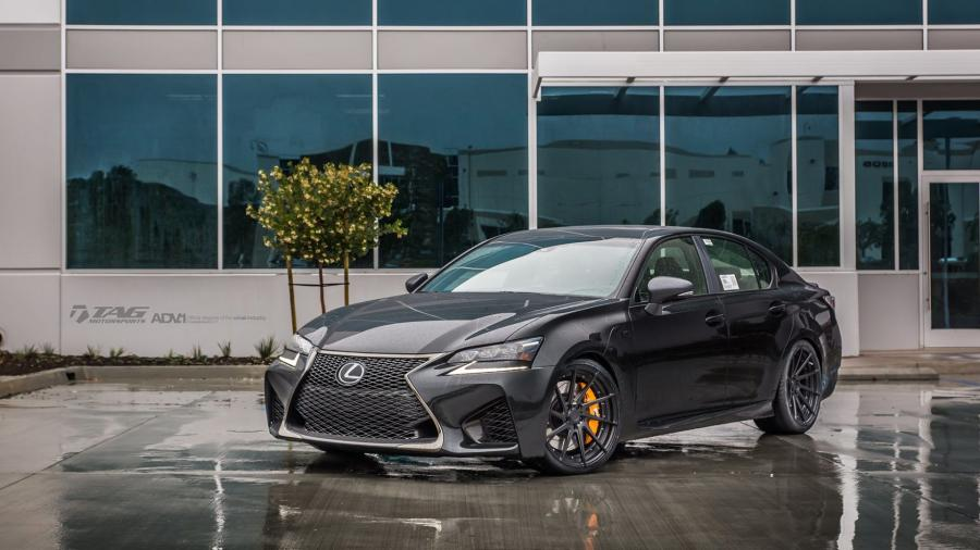 2016 Lexus GS-F Smoky Granite Mica by TAG Motorsports on ADV.1 Wheels (ADV10R M.V2 SL)
