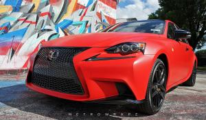 2016 Lexus IS200t Matte Solid Red by MetroWrapz