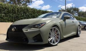 Lexus RC F Army Green on Vossen Wheels (VPS-307T) 2016 года