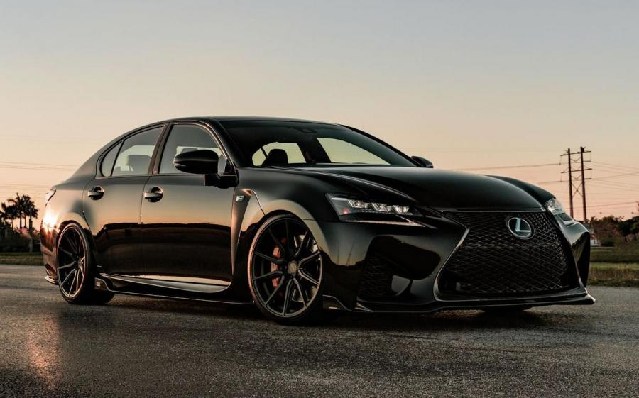 2019 Lexus GS F Gloss Black on Vossen Wheels (HF-3)