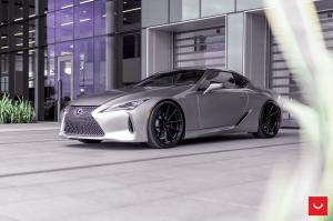 2019 Lexus LC500 Liquid Platinum on Vossen Wheels (HF-3)