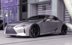 Lexus LC500 Liquid Platinum on Vossen Wheels (HF-3) 2019 года