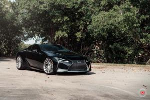 2019 Lexus LC500 Obsidian on Vossen Wheels (VPS-305T)