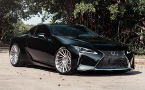Lexus LC500 Obsidian on Vossen Wheels (VPS-305T) 2019 года