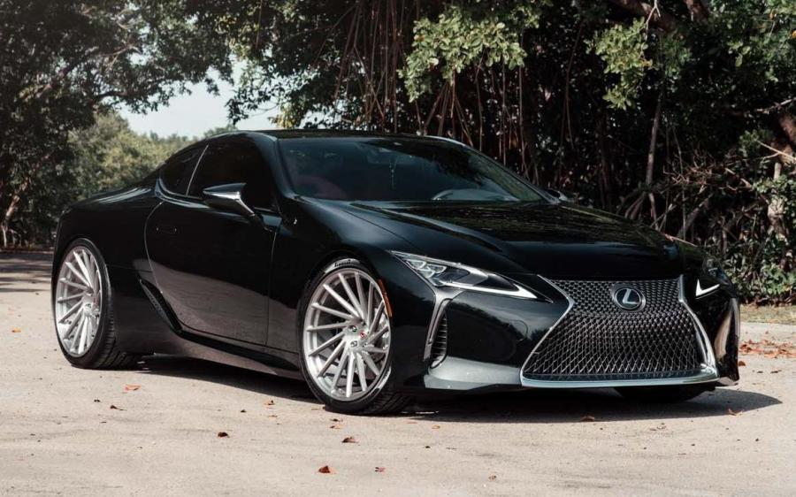 Lexus LC500 Obsidian on Vossen Wheels (VPS-305T) '2019